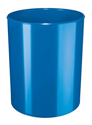 HAN Design-Papierkorb i-Line – eleganter, hochglänzender und stylischer Papierkorb für das moderne Büro. 13 Liter Volumen, blau, 18132-94