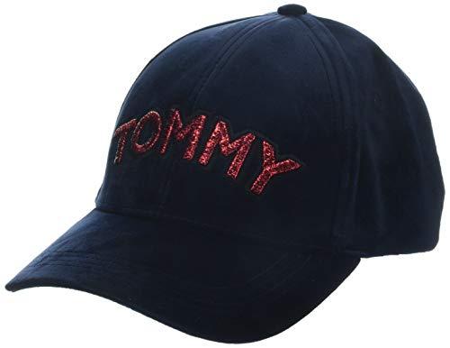 Tommy Hilfiger Damen Patch Velvet Baseball Cap, Blau (Tommy Navy 413), One Size (Herstellergröße: OS)