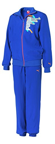 PUMA Graphic Woven Suit Tracksuit Kinder Trainingsanzug Sportanzug, Bekleidung:152