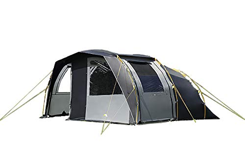 dwt Campingzelt Leader grau Tunnelzelt Camping Outdoor Familienzelt 4 Personen 2 Jahreszeiten Zelt Touringzelt