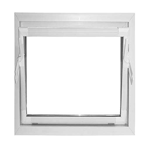 ACO 50x50cm Nebenraumfenster Kippfenster weiß Fenster Kellerfenster Isofenster