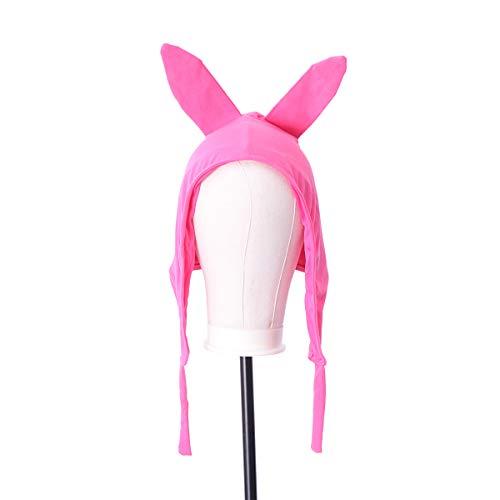 BESTOYARD Rosy Niedlichen Kaninchen Ohr Hut Bunny Earflap Beanie Kostüm Zubehör Party Supplies für Cosplay Halloween Maskerade (Erwachsene)