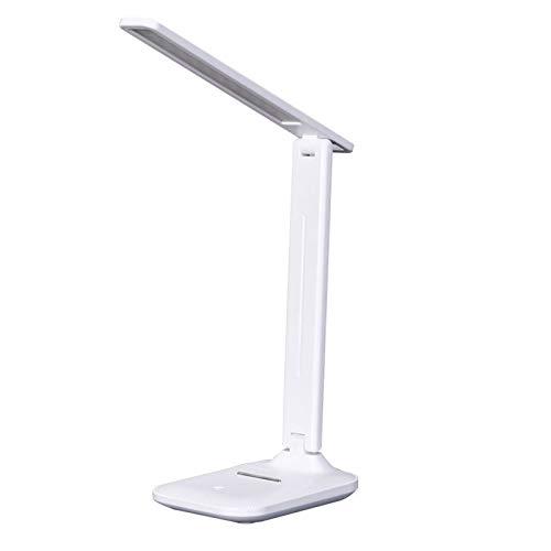 SKYLYZH LED USB Lámpara de Escritorio con atenuación táctil Protección Ocular Plegable Recargable Dormitorio de Estudiantes Trabajo Lectura Estudio Lámpara Brillo Ajustado