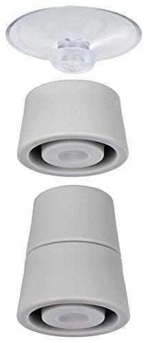 Wenko 2521902100 Pieds pour plaques de Protection 4 pièces, Plastique, Gris, 24,5x10x2,5 cm