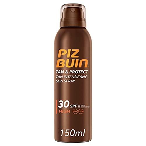 Piz Buin, Tan & Protect Protector Solar en Spray, Acelerador del Bronceado, SPF 30, Protección Alta, 150 ml