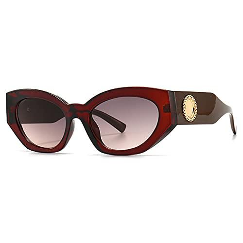 LUOXUEFEI Gafas De Sol Gafas De Sol Mujer Verano Señoras Gafas De Sol Mujer Marrón Negro