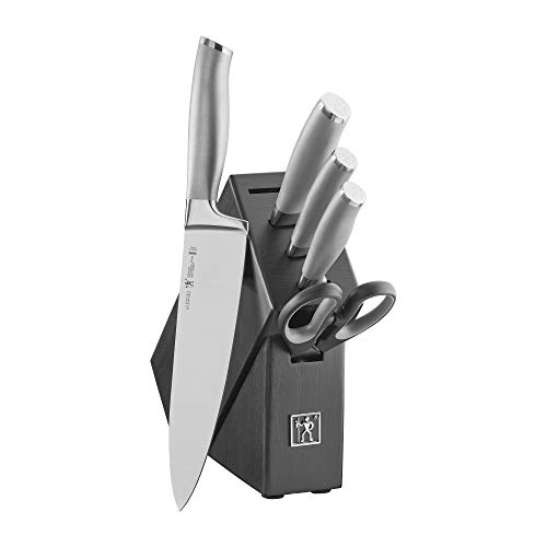 HENCKELS Modernist Knife Block Set, 6-pc, Stainless Steel