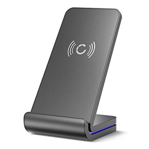Cargador inalámbrico 10W Fast Charge compatible con HiPhone 12 P40 Pro Mate 30 Pro Mi 10 Mi 10 Pro Pixel 5Base de cargainalambrica Cargador wirelessEstación deCarga inductiva Cargador sin