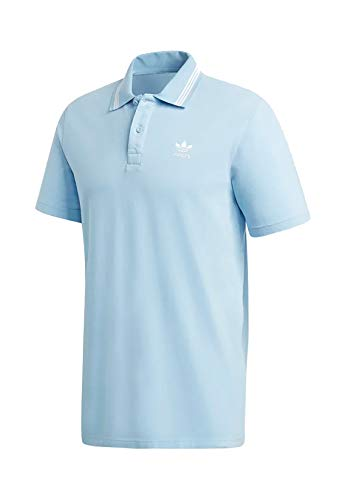 adidas Herren Pique Polo Shirt, Clear Sky, S