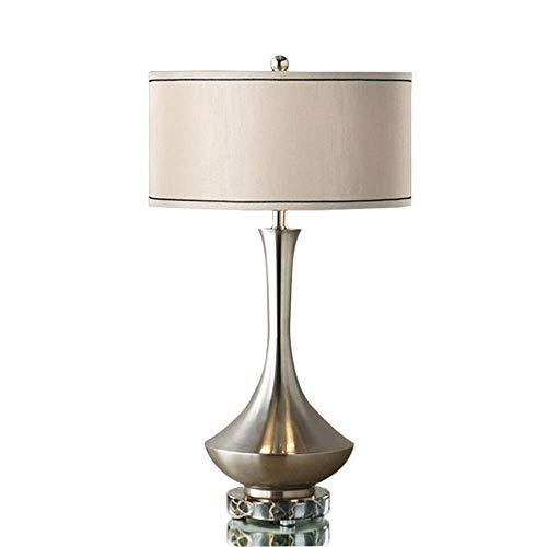 YZYZYZ Lámpara táctil, luz de Cama de Plata de la lámpara de Mesa de la Sala de Estar del Estilo de Europen