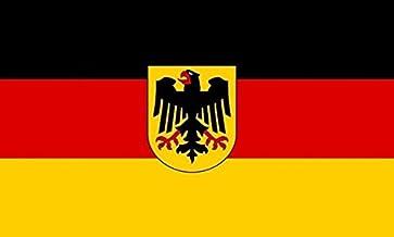 JMM Industries Germany Flag w/Crest Vinyl Decal Sticker German Deutsch Car Window Bumper 5-Inches by 3-Inches Premium Qual...
