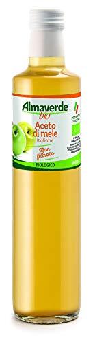 Almaverde Bio Aceto di Mele non filtrato Biologico. 3 Bottiglie da 500 ml.