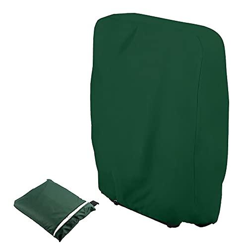 Funda de protección para tumbona plegable, funda para tumbona de jardín, antipolvo, impermeable, antiUV, 210D Oxford para sillón relax, 71 x 110 cm (verde)