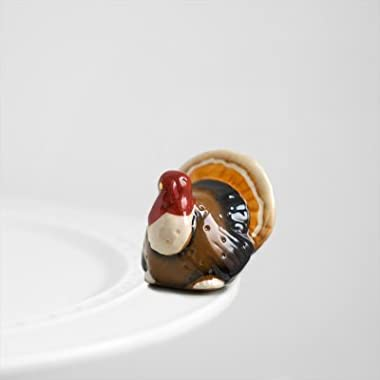 Nora Fleming Turkey Mini - Gobble Gobble - Hand-Painted Ceramic Charm - A47