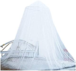 OctoRose Extra Large Size Round Hoop Bed Canopy Netting Mosquito Net Fit Crib, Twin, Full, Queen, King (White)