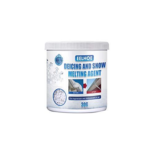 Descongelante para hielo y nieve en invierno, ideal para caminos, calzadas, aparcamientos o carreteras, eficiente (30 g)