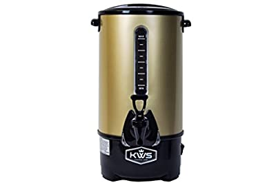 KWS WB-10 9.7L/41Cups Commercial Heat Insulated Water Boiler and Warmer Stainless Steel/Color Options