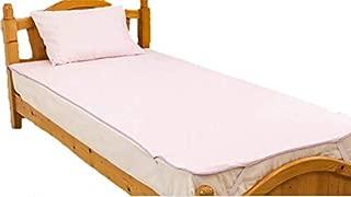 【乾きの早い薄タイプ】防水シーツ セミダブル デイリーパイル おねしょシーツ 選べる5色 (120×205cm)/ピンク