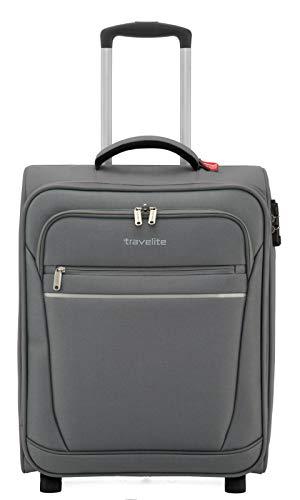 travelite 2-Rad Handgepäck Koffer mit Schloss erfüllt IATA Bordgepäck Maß, Gepäck Serie CABIN: Kompakter Weichgepäck Trolley, 090237-04, 52 cm, 39 Liter, anthrazit (grau)