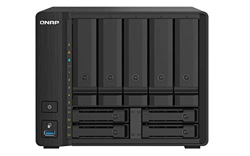 QNAP TS-932PX-4G 9 Bay (5 + 4) Desktop NAS Gehäuse - 10GbE SFP+ und 2.5GbE Konnektivität - 5 x 3.5-Zoll & 4 x 2.5-Zoll Festplattenschächte