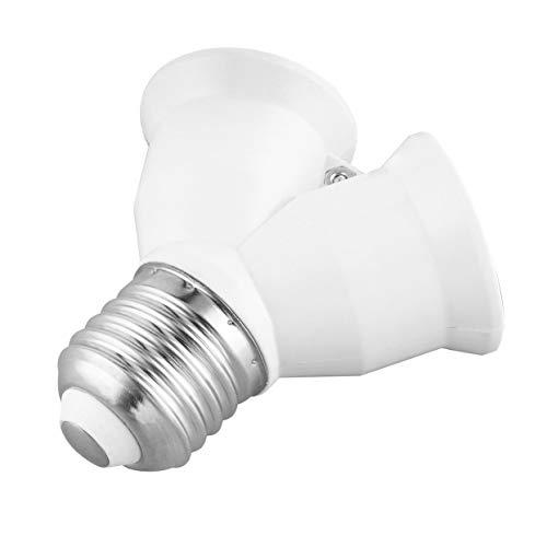 E27 bis E27 Einteiler-Zweier-Glühlampensockel Y-Form Lampensplitter Lampenfassung Adapter Lampenfassung Konverter - Weiß