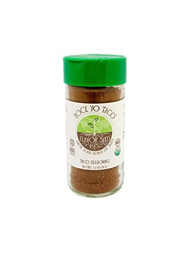 FLAVOR SEED - Rock Yo' Taco Organic Taco Seasoning Mix Bulk|Keto, Paleo, Whole 30 approved, Non-GMO, Gluten Free, No Fillers|Better than McCormick, Taco Bell, and Old El Paso|Dip