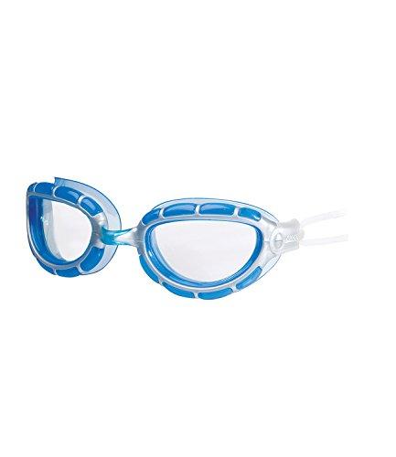 Zoggs Predator - Gafas de natación, Hombre Mujer, color Plata transparente/azul/blanco., tamaño Talla única