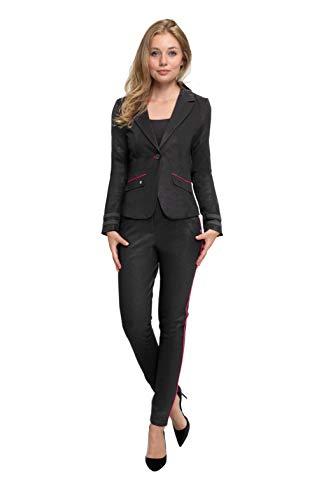 Zhrill Damen Blazer Anzugjacke Elegant Slim Fit Betsy, Größe:L, Farbe:N9300 - Black