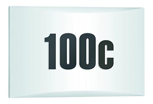 Steinel LED Außenleuchte LN 1 LED mit Dämmerungsschalter, LED Wandlampe inkl. Hausnummer, 4,5 W, 350 lm, Schlagfest IK07, 5,3 x 30 x 19,5 cm, Weiß [Energieklasse A++], 649715