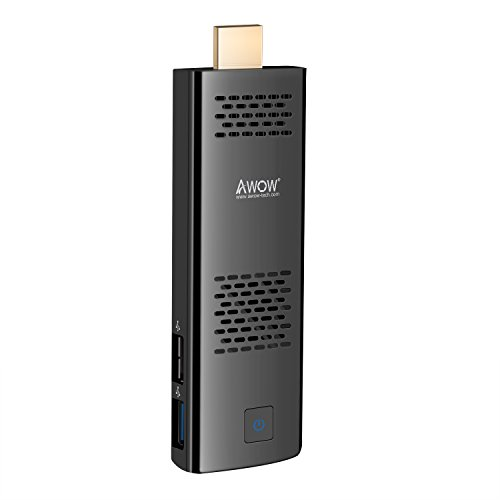 PC Stick by AWOW Windows 10 Compute Stick Intel Atom x5-Z8350/4GB/32GB/Dual Band WiFi/Port/HD 4K/Bluetooth/USB3.0/HDMI/Built-in Fan