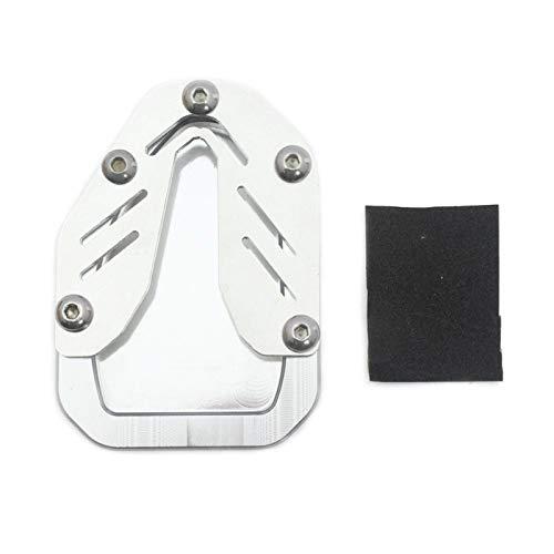 Seitenständer Verbreiterung Platte Für HON-DA CRF1000L 2014-2019 CNC Billet Aluminium Kickstand Fußplatte Seitenstand Verlängerungskissen Vergrößern Erweiterung (Color : Silver)
