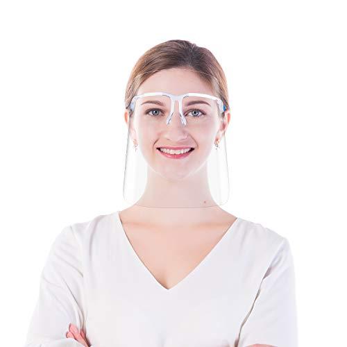AVJONE Protector Facial de Seguridad Reutilizable con Gafas de Visera, Capa Transparente antivaho para Proteger los Ojos de Las Salpicaduras para Mujeres, Hombres (10 Viseras y 5 monturas de Gafas)