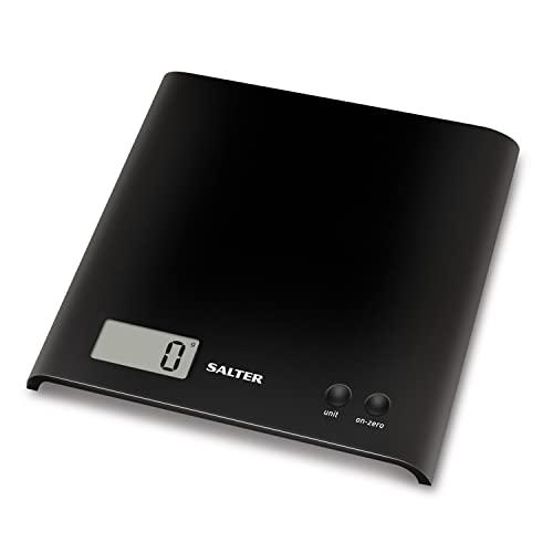 Salter Arc Balance de Cuisine Électronique - Capacité 3 kg – Compacte - Ecran Digital Facile à Lire - Plastique, Noir