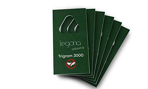 Legona® - Schlupfwespen gegen Kleidermotten / 6X Trigram-Karte à 1 Lieferung/Effektive & Biologische Bekämpfung von Textilmotten/Alternative zu Mottenspray und Mottenkugeln