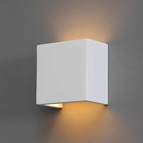 KOSILUM - Luminaire moderne en plâtre - Newport - Lumière Blanc Chaud Eclairage Salon Chambre Cuisine Couloir - 1 x 40 W - - G9 - IP20