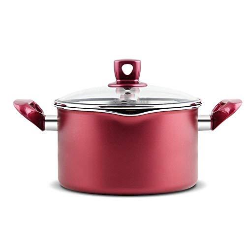 Antiadherente sopa de olla, estufa de inducción Cocina de gas de 20 cm universal Wok