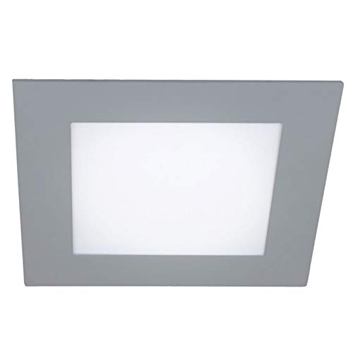 Wonderlamp - Pack 2 x Downlight LED extraplano cuadrado gris, iluminacion 18W (1450 lm), 4000K (luz neutra), W-E000120