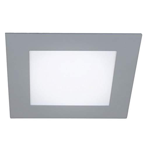 Wonderlamp W-E000122 W-E000120-Pack 2 x Downlight LED extraplano Cuadrado Gris, iluminacion 18W...