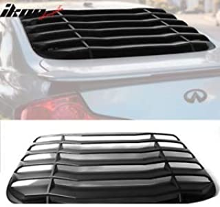 Billion_Store Fits 03-07 Infiniti G35 Coupe Rear Window Louver Unpainted PP Cool Tuning