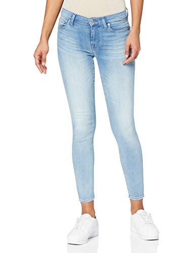 7 For All Mankind Damen The Crop Skinny Jeans, Blau (Light Blue Rk), 25W 27L EU