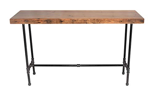 Sofa Table,Entry Table, Hallway Table, Nook Table,42 Inch High,Bar height Wood Table, Pipe Table, Reclaimed Barn Wood | FREE SHIPPING