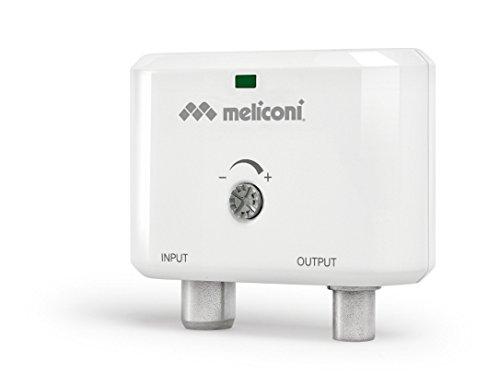 Meliconi AMP 20 Mini, Amplificatore d Antenna Digitale per Interni, fino a 25 dB, 40 - 790 MHz, Cavo USB a micro USB 1,5 m incluso nella confezione, Bianco