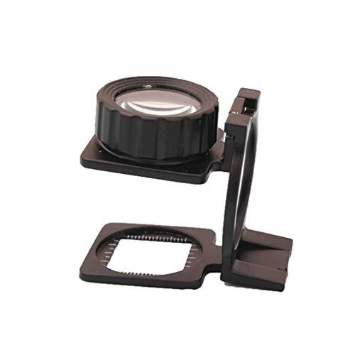 ZTHUAYUAN Lupa de artesanía Creativa Lupa, con una Escala de 20X Lupa Plegable Lente de Cristal óptico portátil de Aumento Lupa para Leer