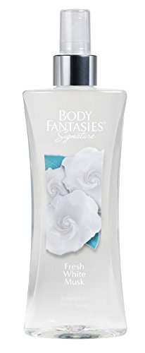 Body Fantasies Signature Fragrance Body Spray, Fresh White Musk, 8 Fluid Ounce