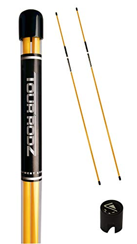 Longridge Golf Practice Aid Tour Rodz Alignment Sticks, gelb