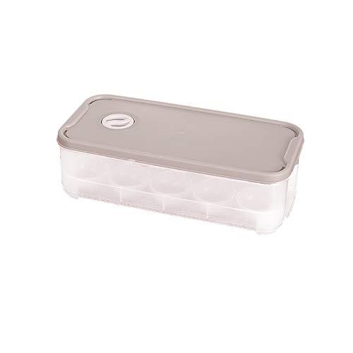 LLSPHYDY Caja de plástico para 10 huevos de rejilla, organizador de alimentos