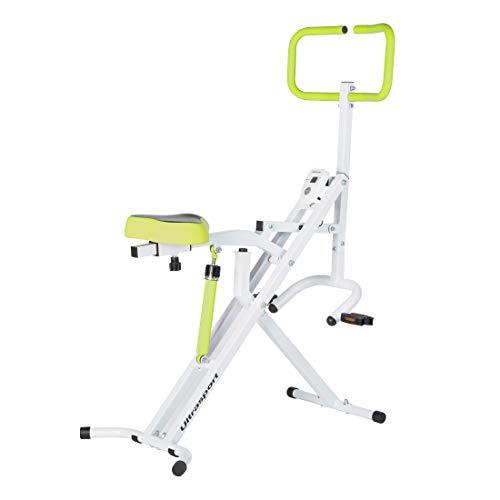 Ultrasport Home Trainer Horse Rider Aparato, Fitness, musculación y pérdida de Peso en el Abdomen, Las piernas y los glúteos con Rodillo para Abdominales, Carga máxima 110 kg, Unisex Adulto, Verde, OS