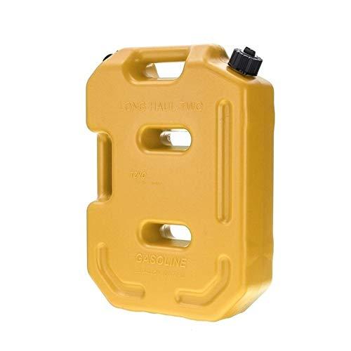10L Depósito De Combustible Depósito De Aceite Gasolina Diesel Almacenamiento Puede Repuesto Depósito De Combustible Plástico Gasolina Coche Motocicleta Camión Coche Jerrycan (Color : Yellow)