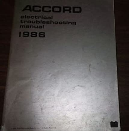 1986 HONDA ACCORD Electrical Wiring Diagram Troubleshooting ... on stance nation accord, vossen accord, cg3 accord, 2 door accord, mugen accord, hematite metallic accord, euro accord, 4th gen accord, 8th gen accord,