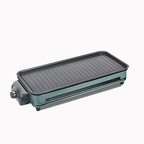 Plancha electrica para cocinar Doble Revestimiento Antiadherente Plancha de Asar Diseño de Temperatura Constante Grill Adecuado para Tres Comidas al día y Camping.